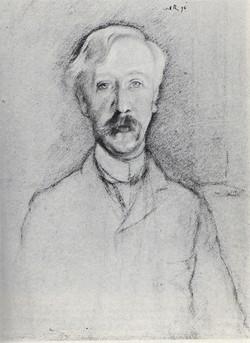 George Moore by William Rothenstein