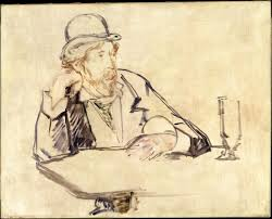 George Moore sketch by Édouard Manet