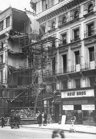 102 Victoria St, after a bomb 1941; GM l