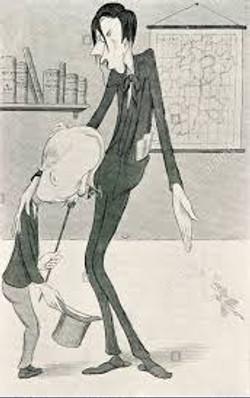 Max Beerbohm caricature of George Moore