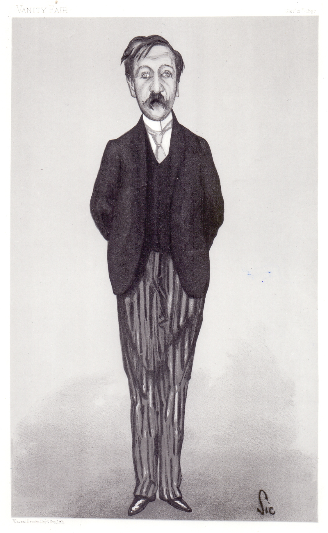Walter Sickert, sketch of George Moore