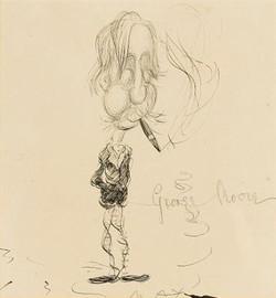 Max Beerbohm portrait of George Moore