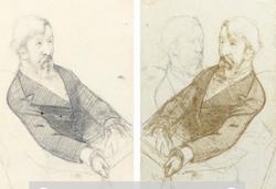 Mary Cassatt sketch of George Moore