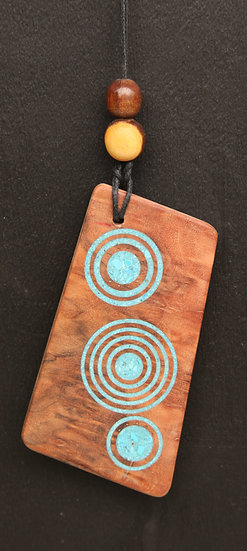 Pendent with Turquoise Rings