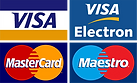 We accept most major credit and debit cards.