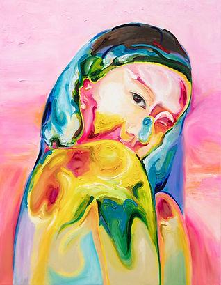 Epidermis world 12, oil on canvas , 116.8 x 91 x 2.4 cm, 2019-2020.jpg
