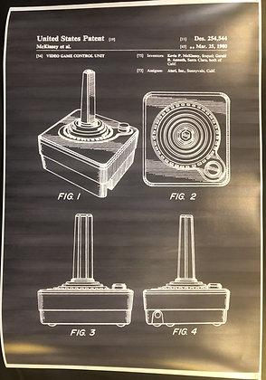 Atari Joystick Patent Print Poster