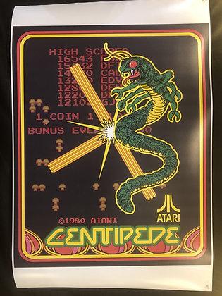 Centipede Atari Box Art Poster