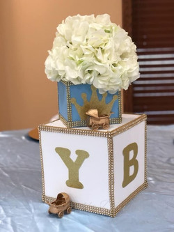 Centerpiece for Prince Baby Shower