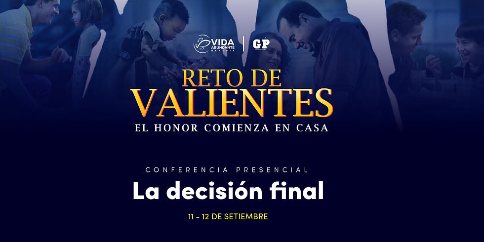Conferencia Presencial - Sábado 4:00 pm