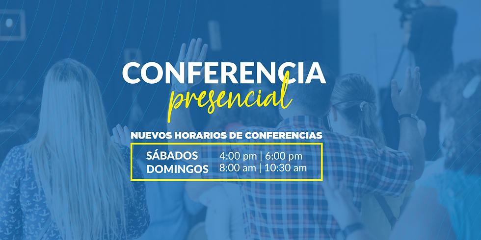 Conferencia Presencial - Domingo 8:00 am
