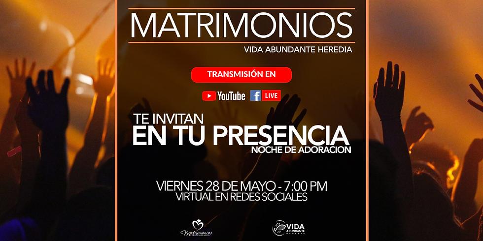 """Reunión virtual de Matrimonios """"En tu presencia"""""""