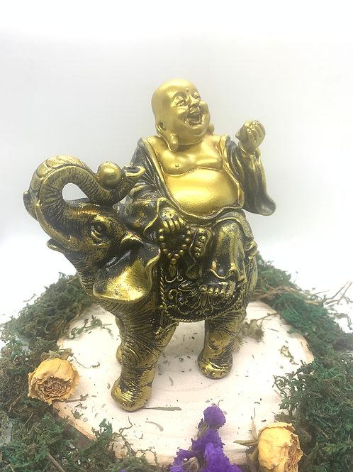 Golden Buddha on Elephant