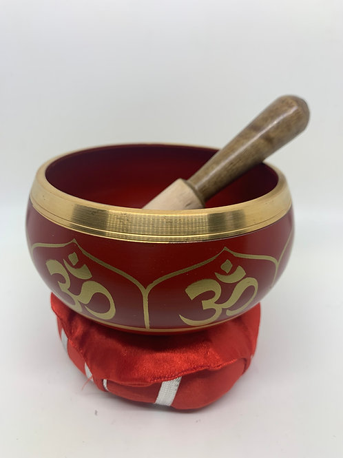 Tibetan Meditation  Om Mantra Singing Bowl Set