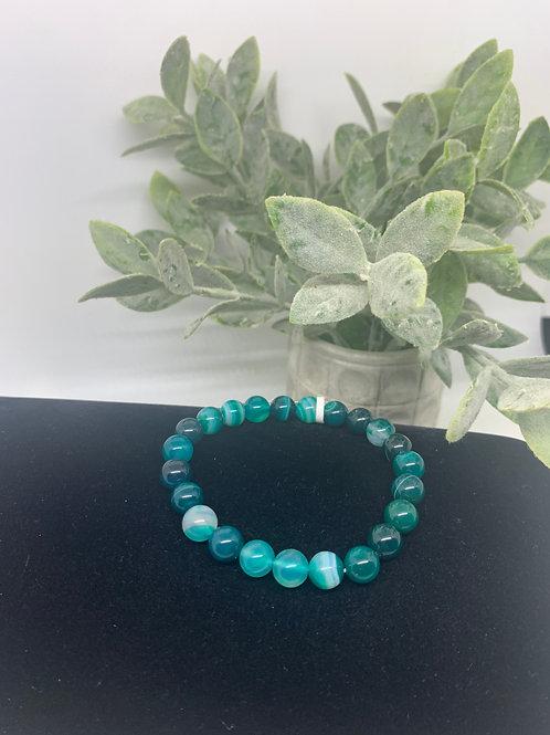 Green Agate Beaded