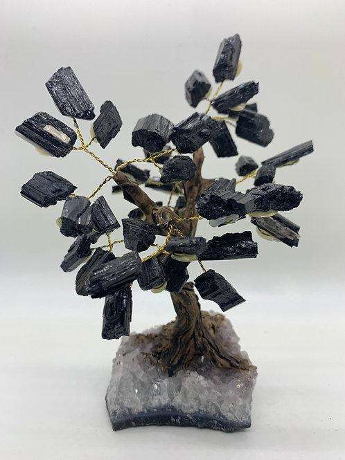 Tourmaline & Amethyst (base) Gemstone Tree
