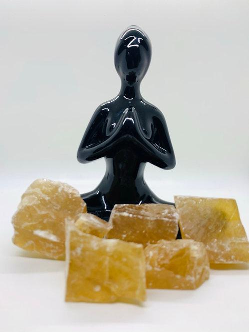 Honey  Calcite Natural Rough