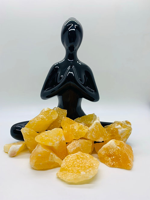 Orange Calcite Natural Rough