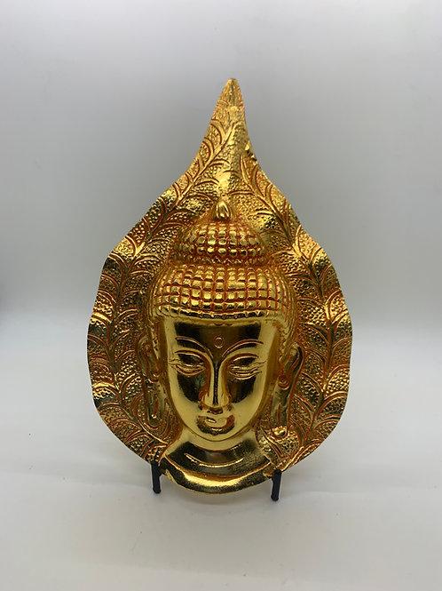 Gold Metal Buddah Plaque