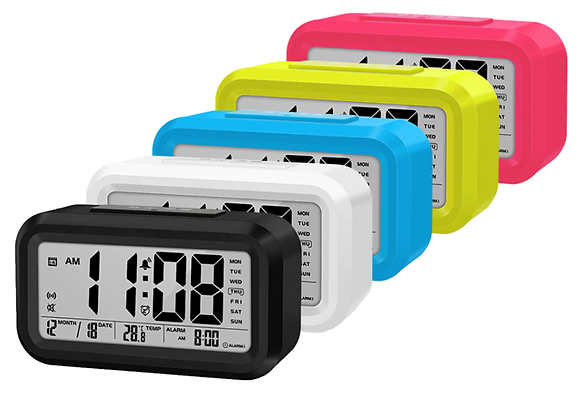 Цифровые часы-будильник с подсветкой и термометром