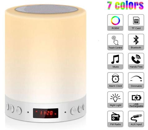 Светодиодный сенсорный ночник-светильник + Bluetooth колонка,  портативный