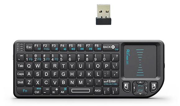 Многофункциональная беспроводная клавиатура Rii X1 mini 2.4G  + тачпад + мышь