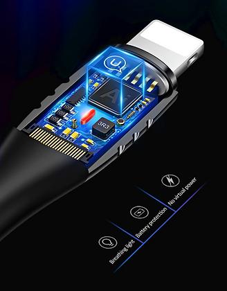Смарт кабель для телефона USAMS USB-Lightning, быстрая зарядка