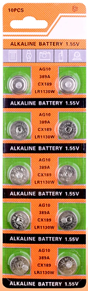 Батарейка часовая  AG10 (LR1130) 1.55V