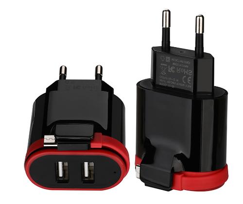 Зарядное устройство для мобильного телефона VOGEK, 2 USB
