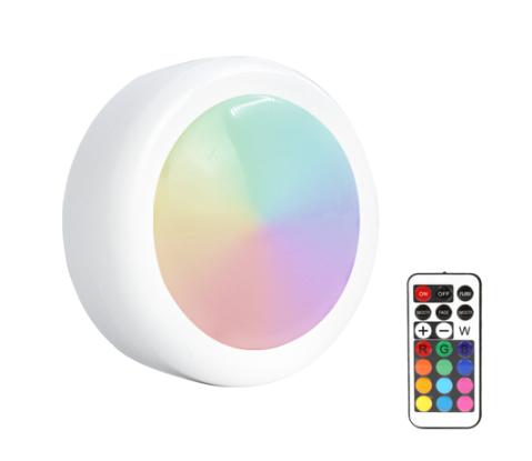 Светодиодная подсветка-шайба RGB 12 цветов + ИК пульт