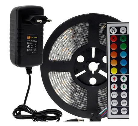 Светодиодная лента SMD5050 RGBW/5 м/40 + ИК-пульт + адаптер питания 12V/3A