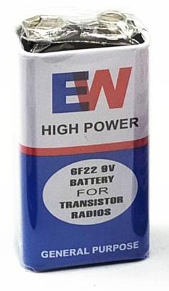 Батарейка EW 6F22 9V