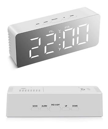 Светодиодные часы-зеркало, будильник/термометр/гигрометр