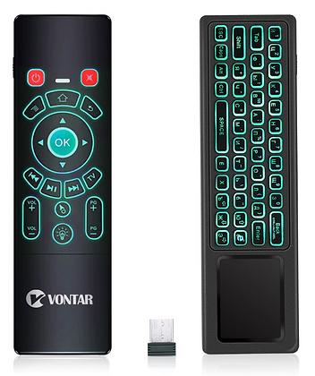 Беспроводной пульт с клавиатурой - аэромышь с подсветкой Vontar T8 plus, 2.4 ГГц