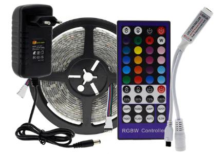 Светодиодная лента SMD5050 RGB/5 м/44 + ИК-пульт + адаптер питания 12V/3A