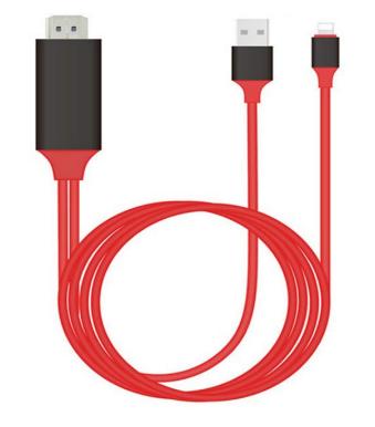 Дата-кабель для телефона Kebidu USB - 8-pin для Apple - HDMI HD 1080P, 1.8 м