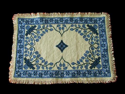 Tapete de Arraiolos - D. Inês (azuis)