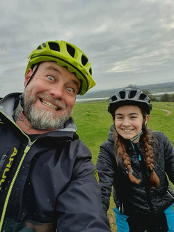 Dad & daughter ride out