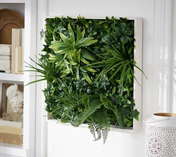 "Wicker Park 20"" x 20"" Rectangular Faux Plant Wall Decor"