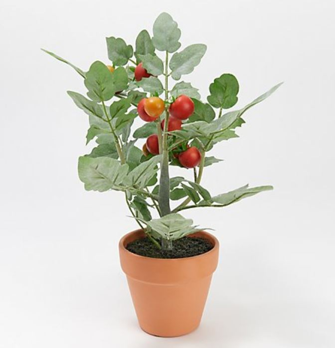 "Wicker Park 12"" Tall Faux Potted Tomato Plant"