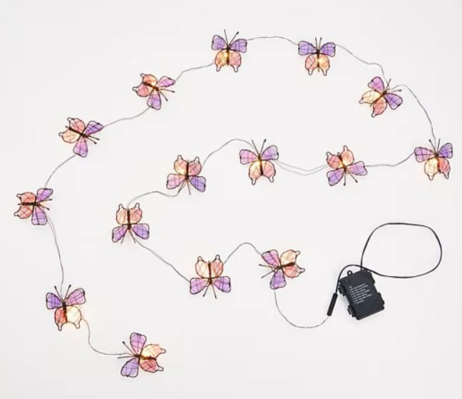 Bethlehem Lights 10' Butterfly Fairy Lights with Clips