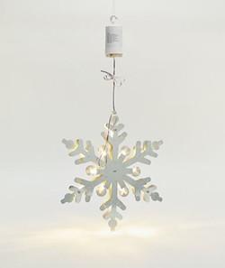 "Bethlehem Lights 12"" Metal Snowflake with LED Backlighting"