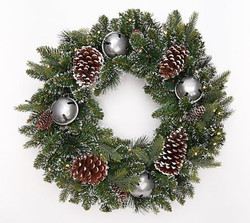"Bethlehem Lights 26"" Frosted Jingle Bell Wreath"