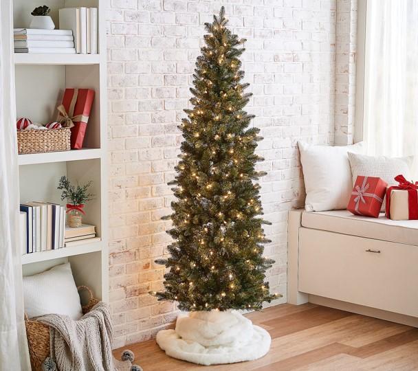 Bethlehem Lights 6.5' Slim Green Spruce Tree
