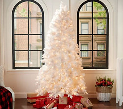 Bethlehem Lights 6.5' Flocked White Pine Tree