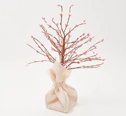 "Bethlehem Lights 18"" Pip Berry Spring Topiary Tree"