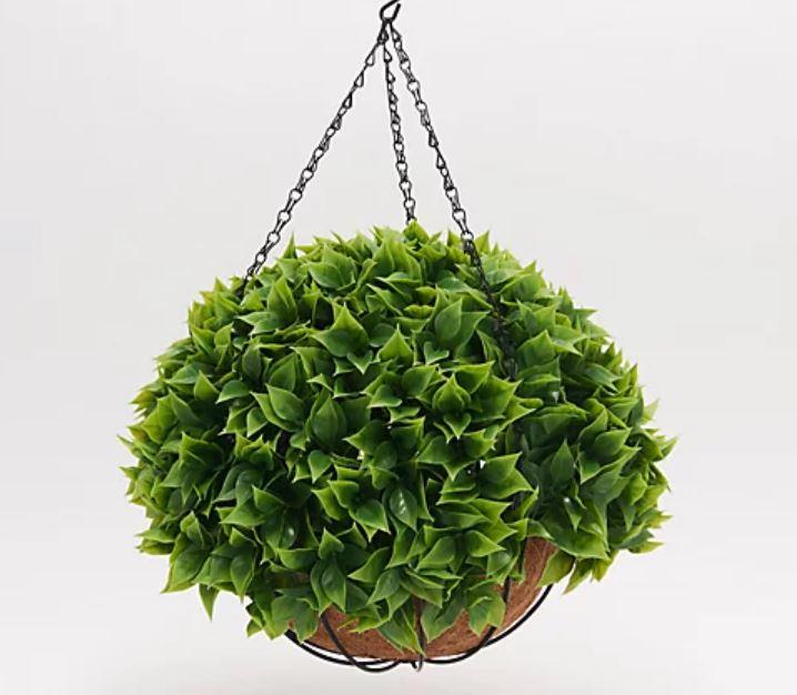 "Wicker Park 15"" Faux Floral Bougainvillea Indoor/Outdoor Hanging Basket"