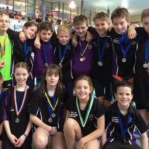 Younger swimmers in action at Lothian Graded
