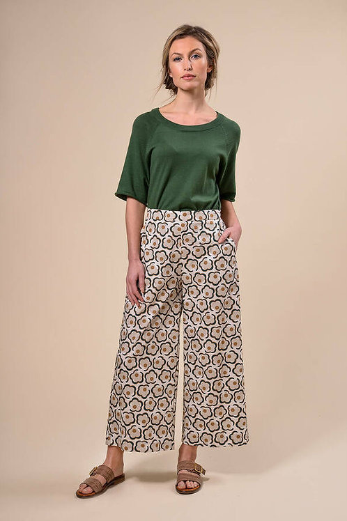 RIVER WOODS Pantalon large en coton Motif floral