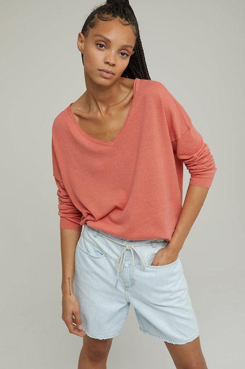 CLOSED Pullover maille fine en lin & Coton